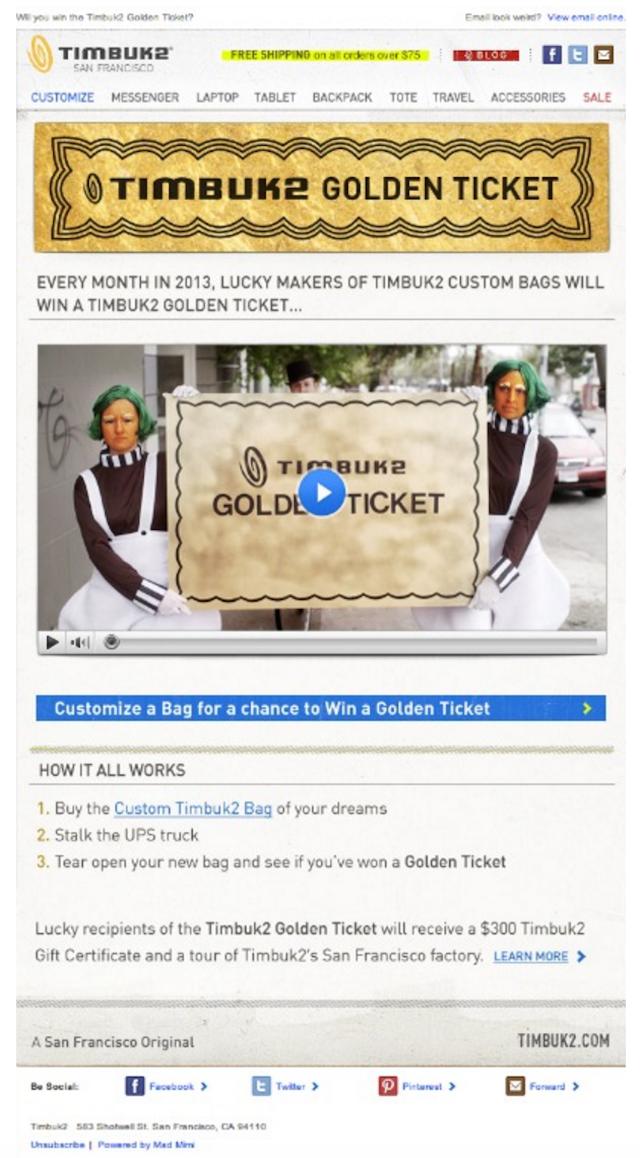 Email Content Golden Ticket