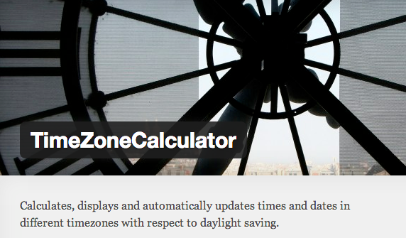 Time Zone Calculator Plugin for WordPress