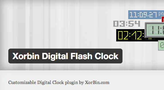 XorBin Digital Flash Clock for WordPress