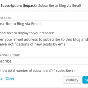Blog Subscriptions with Jetpack
