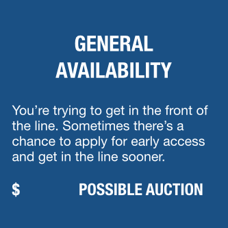General Availability for Registration