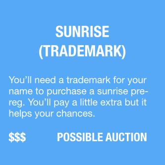 Surise Pregistration Trademark