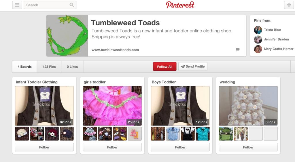 Pinterest Online Store