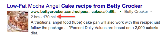 Structured Data for Betty Crocker