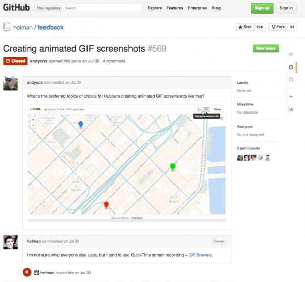 GitHub Page - Feedback