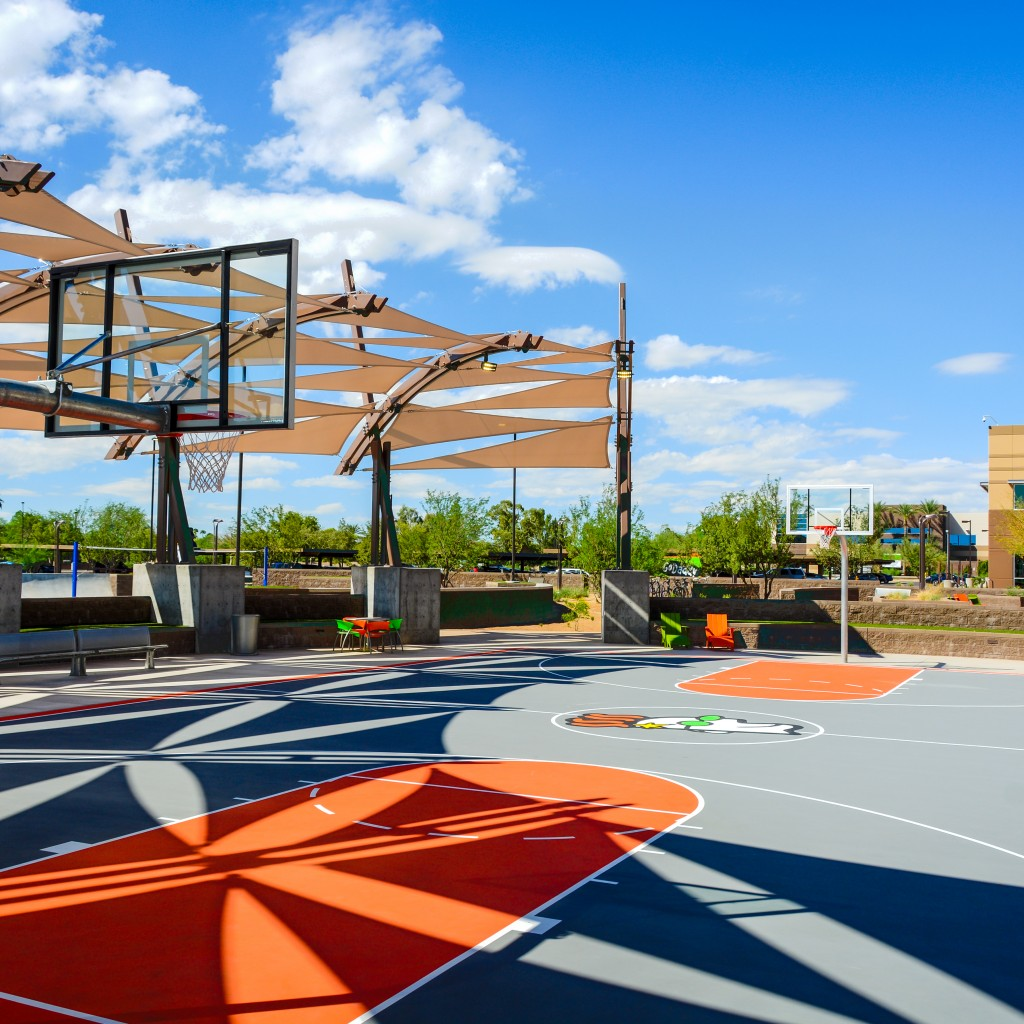 Basketball Court at GoDaddy Tempe