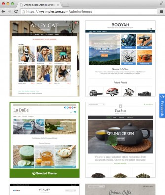 GoDaddy Online Store themes