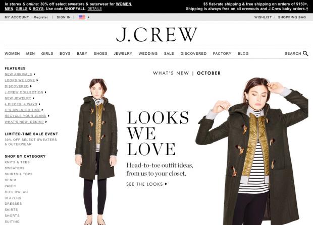 J Crew Shipping