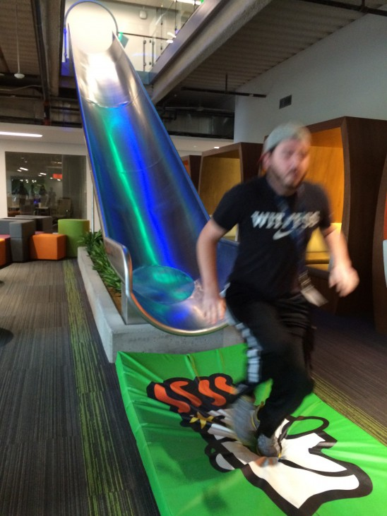 Slide at the GoDaddy Tempe Arizona