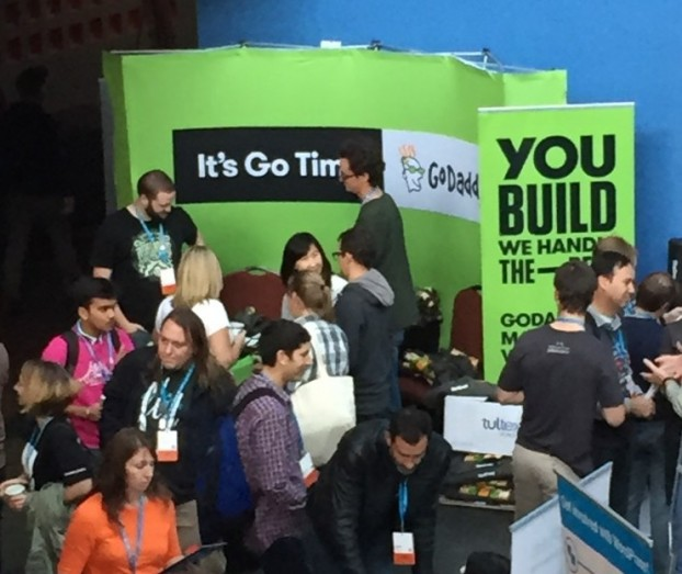 GoDaddy Booth at WordCamp San Francisco