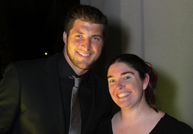Tim Tebow with Blogger Ashley Grant