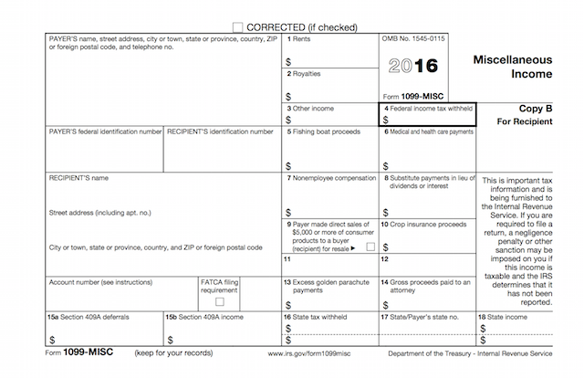 When is tax form 1099-MISC due to contractors? - The Garage