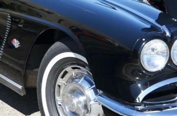 close-up of sportscar
