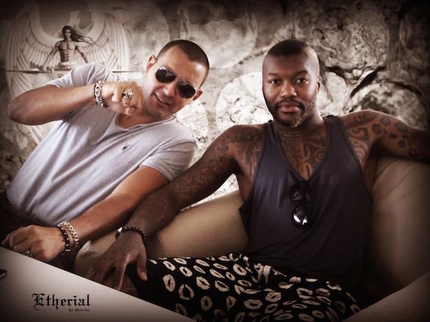 Marcus Platrides and soccer star Dijibril Cisse