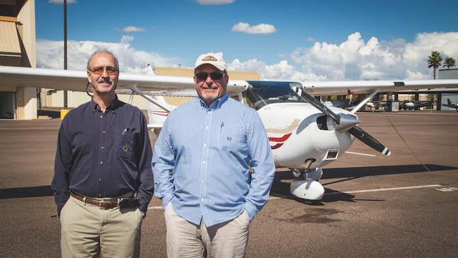 aerodyne founders Doug and Larry