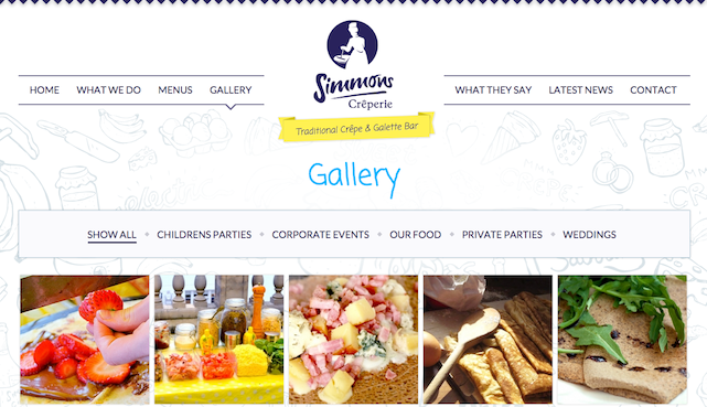 simmons creperie website home page