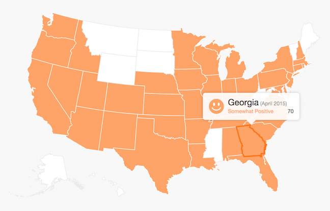 small business survey results for Georgia