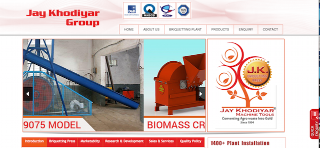 Jay Khodiyar Machine Tools website home page
