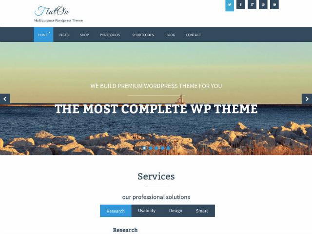 FlatOnWordPress theme