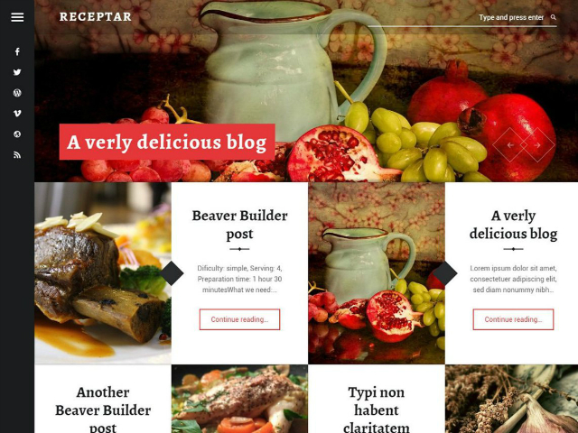 Receptar WordPress theme