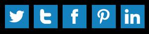 Screenshot of custom social media icons using Adobe Illustrator