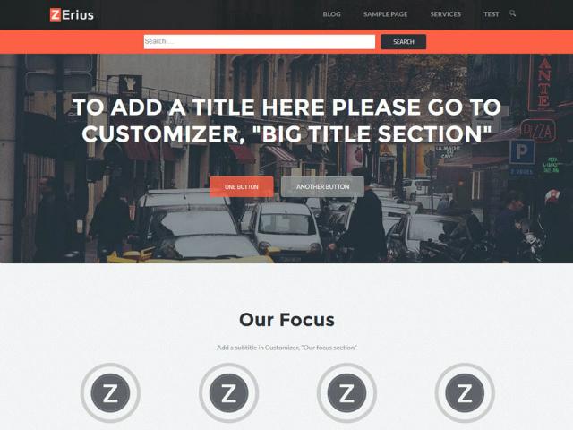 Zerius WordPress theme
