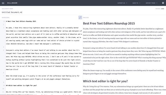 dillinger-editor-screenshot
