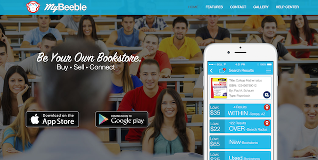 The MyBeeble app is available for iOS and is in development for Android.