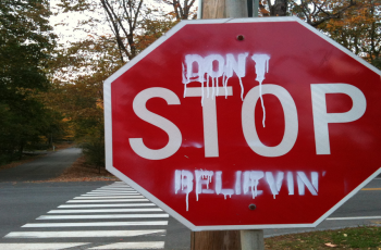A stop sign to represent not quitting on your small business.