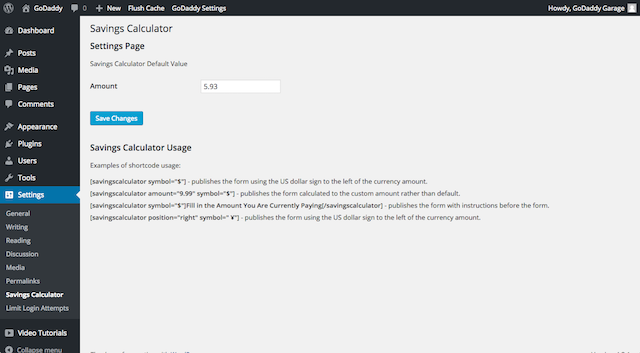 Plugin Settings Page Within WordPress