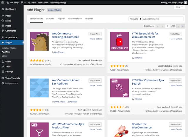 WordPress.org Plugins inside WordPress admin panel