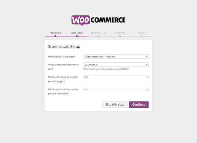 WooCommerce Store Local Setup