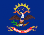 flag of north dakota, which ranked No. 1 in best states to succeed with small busines