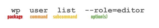anatomy of wp-cli command