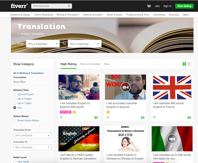 making your wordpress website multilingual is easier with translator marketplaces like fiverr