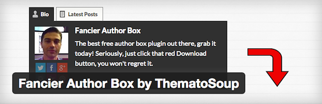 Free WordPress Plugins Fancier Author Box