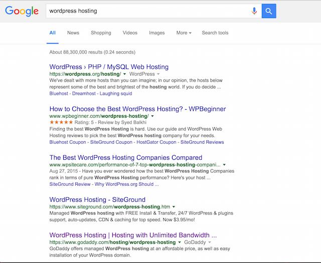 Google SERP AdBlock
