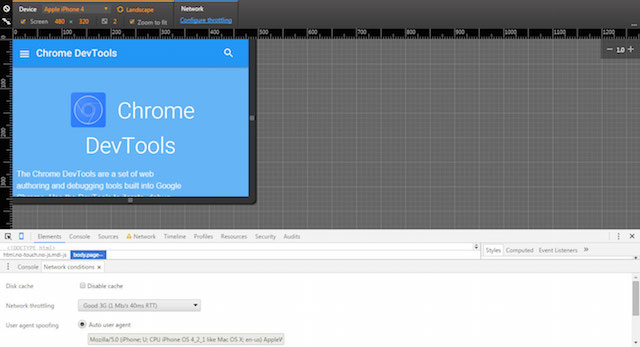 Chrome Mobile Design Testing Tool