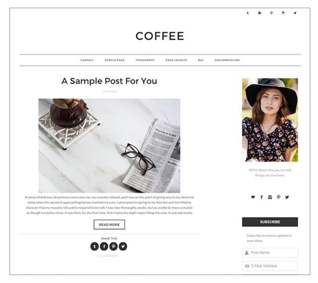 Lily Liseno Coffee WordPress Theme