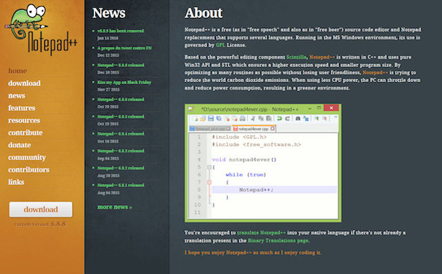 Notepad++ for WordPress Development