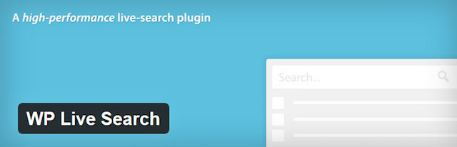 WP Live Search Uses WP REST API