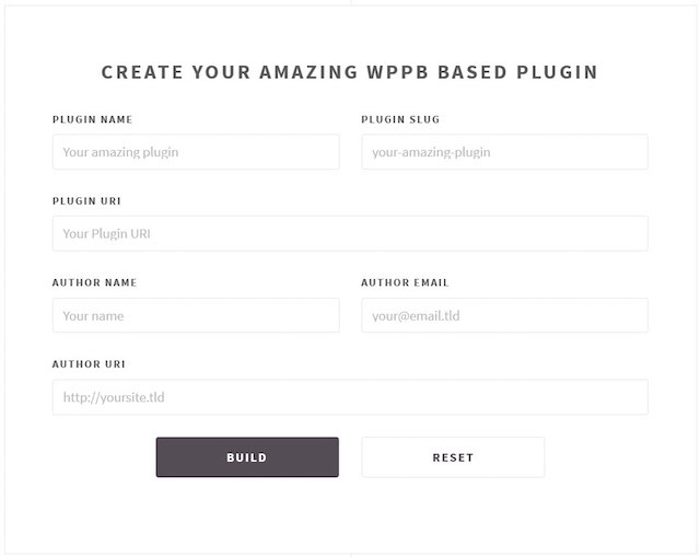 WP Boilerplate Generator for WordPress Development