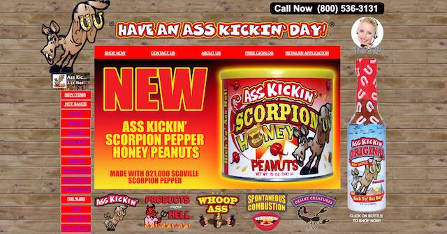 Ass Kickin Hot Sauce Website