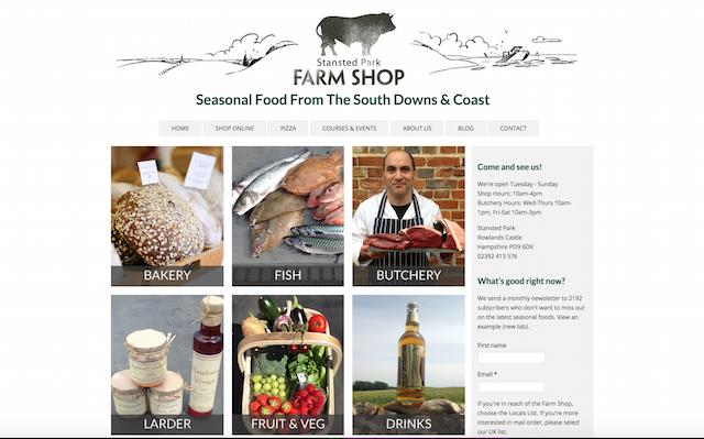 Standsted Park Farm Shop Website