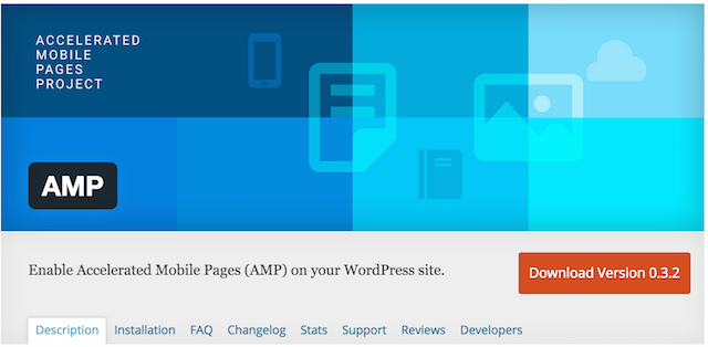 AMP Plugin Header on WordPress.org