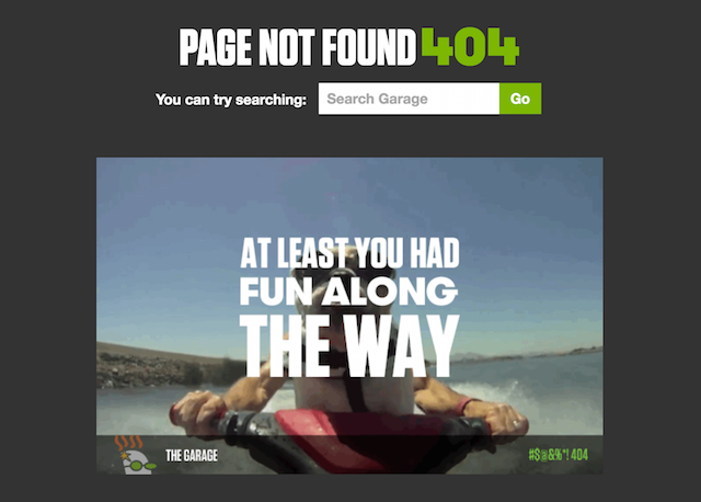 Garage 404 Error