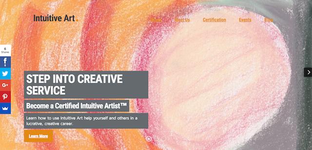 Intuitive Art Academy Website