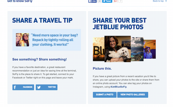 JetBlue SoFly Website
