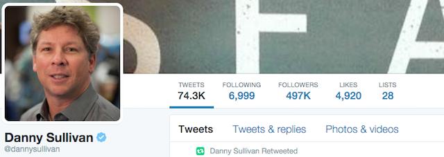 SEO Expert Danny Sullivan