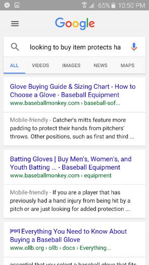 RankBrain Sample Search Query